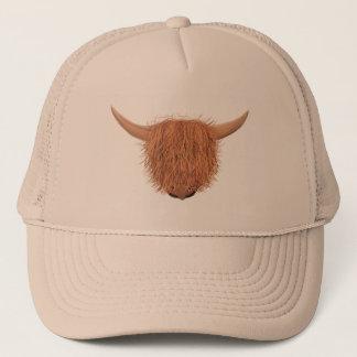 Boné Chapéu peludo do camionista da vaca das montanhas