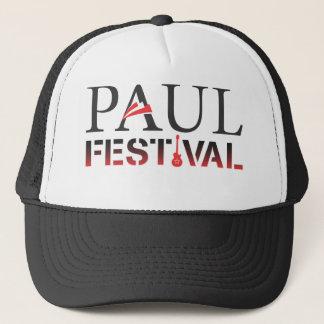 Boné Chapéu preto & branco do festival de Paul do