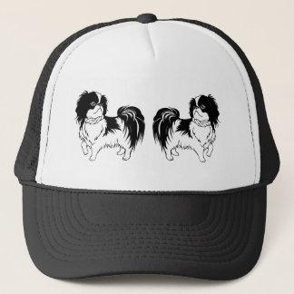 Boné Chapéu preto e branco bonito de dois cães