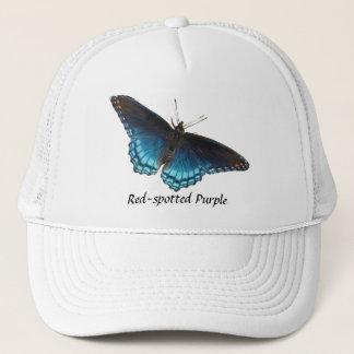 Boné chapéu roxo Vermelho-manchado da borboleta