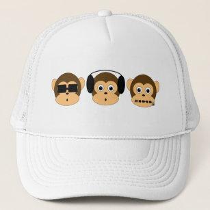 08baa9301ccab Boné Chapéu sábio de três macacos