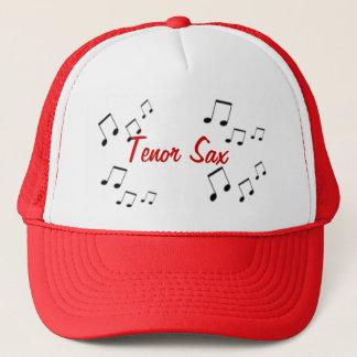 Boné Chapéu - texto do instrumento musical no vermelho