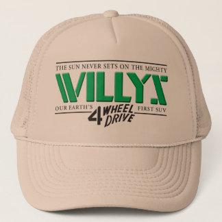 Boné Chapéu verde de Willys 4WD