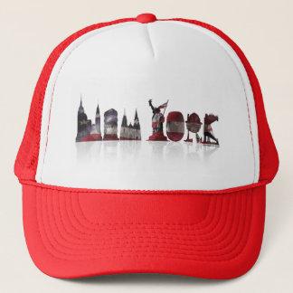 Boné Chapéu vermelho/branco do camionista de New York