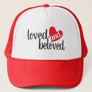 Boné Chapéu vermelho e branco amado e amado do