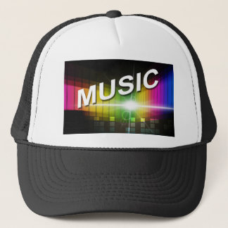Boné Chapéus do camionista da ilustração da música