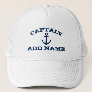 Boné Chapéus do capitão do barco com âncora náutica e