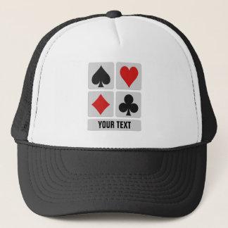 Boné Chapéus do costume do jogador de cartão