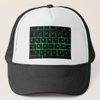 Boné Chaves de teclado QWERTY do computador do fulgor