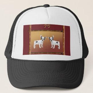 Boné Chinês asiático do design dos terrier de Jack