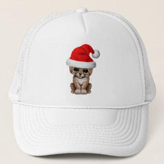 Boné Chita bonito Cub que veste um chapéu do papai noel