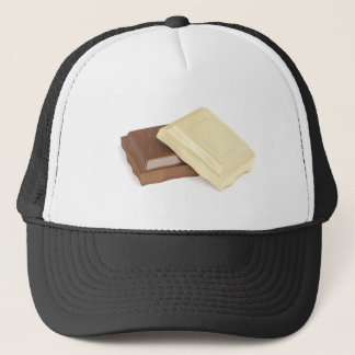 Boné Chocolate branco e marrom