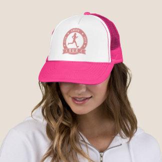 Boné Círculo fêmea FUNCIONADO do riso amor vivo (rosa)
