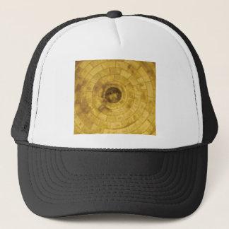 Boné círculos de pedra amarelos