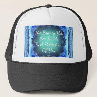 Boné Citações da reflexão da beleza do verde azul da