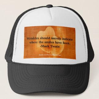 Boné Citações do aniversário de Mark Twain com corações