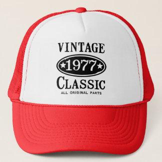 Boné Clássico 1977 do vintage
