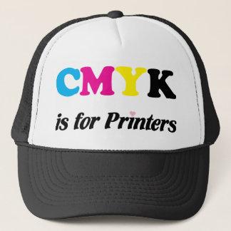 Boné CMYK é para as impressoras 3