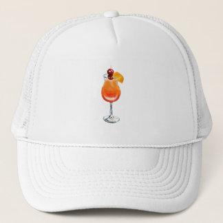 Boné Cocktail do nascer do sol do Tequila da aguarela