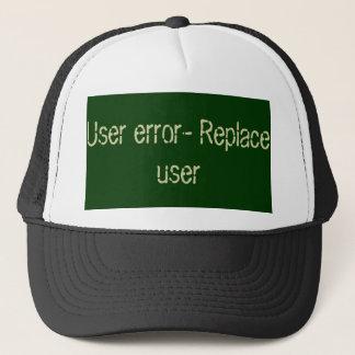 Boné Código de erro do usuário