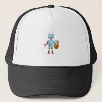 Boné Coelhinho da Páscoa engraçado do robô da páscoa