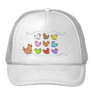 Boné colorido da galinha dos desenhos animados