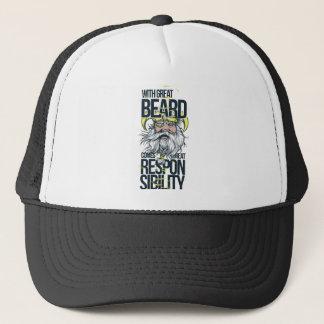 Boné com grande barba vem a grande responsabilidade