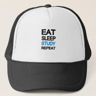 Boné Coma a repetição do estudo do sono