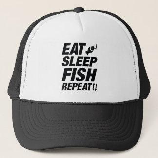 Boné Coma a repetição dos peixes do sono