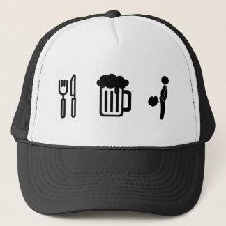 """Boné """"Coma, beba, Fart"""" chapéu do camionista"""