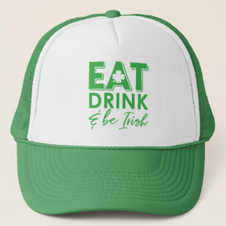 Boné Coma, bebida & seja o dia de St Patrick irlandês