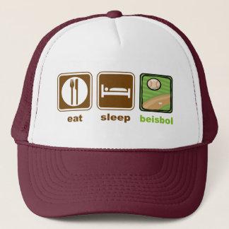 Boné coma o beisbol do sono