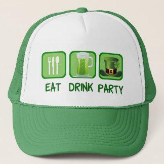 Boné Coma o dia de St Patrick engraçado do partido da