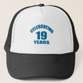 Boné Comemorando 19 anos de design do aniversário