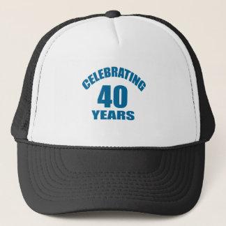 Boné Comemorando 40 anos de design do aniversário