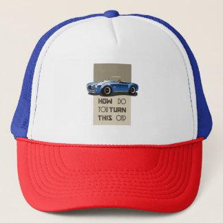 Boné Como você gira este no carro azul da cobra