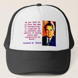 Boné Como você nos fala - Richard Nixon