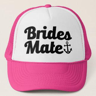 Boné Companheiro das noivas com o chapéu da dama de