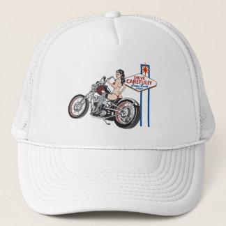 Boné Conduza com cuidado o chapéu do Pinup do