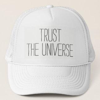 Boné CONFIE as citações encorajadoras do universo