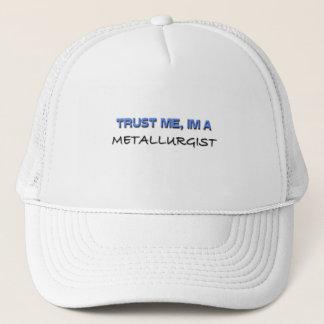 Boné Confie que eu mim é um metalurgista