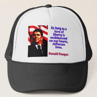 Boné Contanto que um amor da liberdade - Ronald Reagan