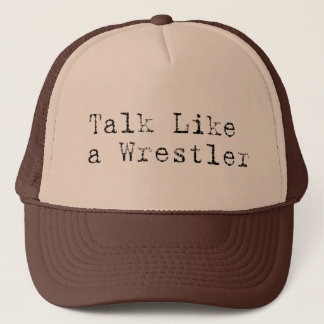 Boné Conversa como um chapéu do camionista do lutador