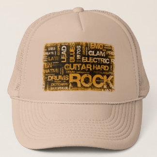 Boné Convite de festas da música rock como a arte do