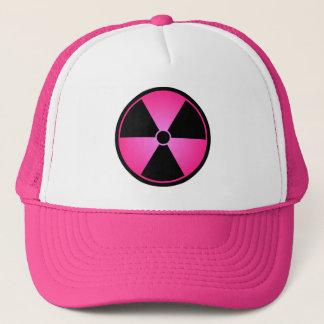 Boné cor-de-rosa do símbolo da radiação