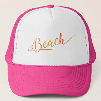 Boné Cor estilizado bonita do pêssego da praia