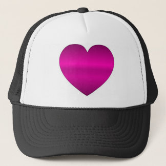 Boné Coração cor-de-rosa brilhante