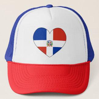 Boné Coração da bandeira da República Dominicana