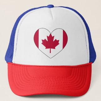 Boné Coração da bandeira de Canadá