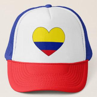Boné Coração da bandeira de Colômbia